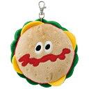 【第3弾】新作登場!★BURGER CONX★529122 ぬいぐるみ型リール付きパスケース(バーガーコンクス)ハンバーガーのぬいぐるみ かわい…