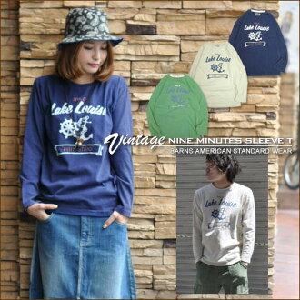 Barnes * anchor Lake ★ vintage 9-sleeves T shirt