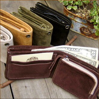 COW LEATHER Suede Wallet * BASIC STYLE suede ☆ basic wallet