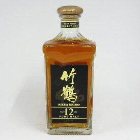 【レトロ】竹鶴12年 角瓶 ブラックラベル 40度 660ml (箱なし)
