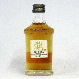 【ミニサイズ】【レトロ】鶴 透明瓶 43度 50ml