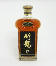 【レトロ】竹鶴17年 角瓶 43度 700ml (箱なし)