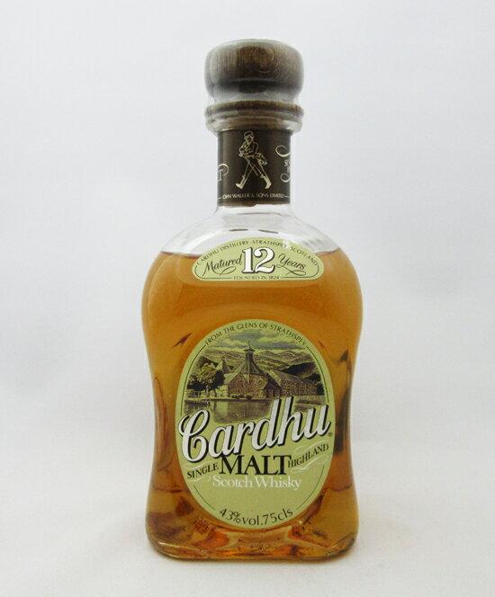 【オールドボトル】Cardhu(カーデュ) 12年 43度 750ml 並行輸入品 (箱なし)
