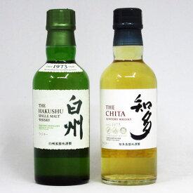 【ベビーサイズ】白州 / 知多 NV 180ml (箱なし) 2本飲み比べセット