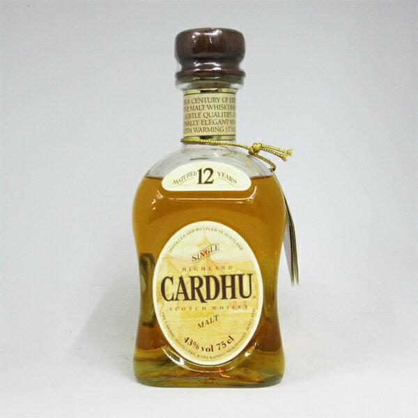【レトロ】Cardhu(カーデュ) 12年 43度 750ml 並行品 (箱なし)