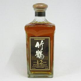 【レトロ】竹鶴12年 角瓶 40度 660ml (ブラウンラベル:箱なし)