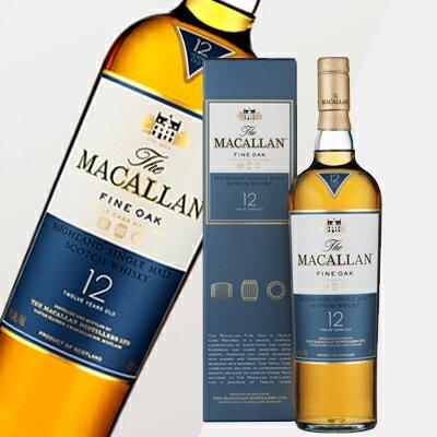 マッカラン 12年 ファインオーク 40度 700ml (専用BOX入) 【正規品】スコッチ ウイスキー