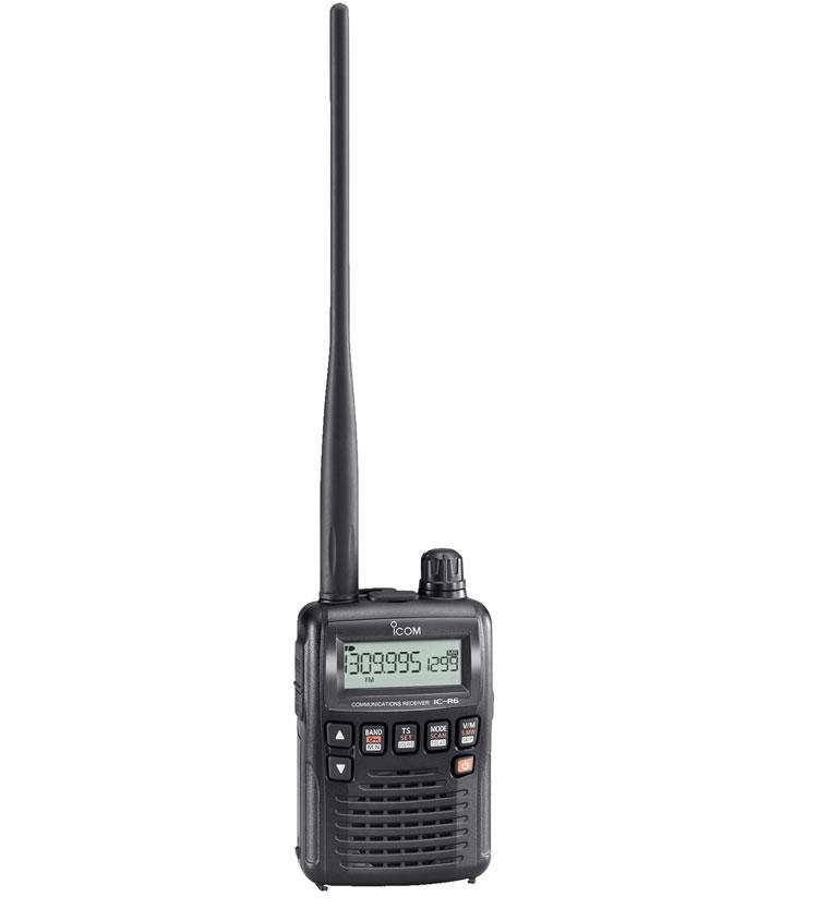 IC-R6 アイコム 広帯域ハンディレシーバー(0.100〜1309.995MHz AM/FM/WFM 一部周波数帯を除く)