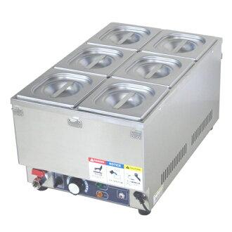 KCFW-6 for ceremony of food warmer soup warmer electricity desk warmer 6 tank duties