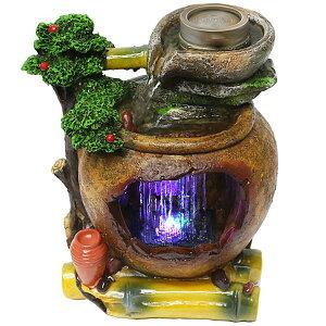 スターライト噴水-臼壺(玉無)(風水 卓上噴水 ミニ噴水 室内 インテリア 小型)