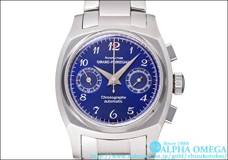 Girard Perregaux vintage 1960 chronograph Ref.24980 blue dial West Japan only 50 copies (BLUE CHRONOGRAPH Ref.24980, GIRARD-PERREGAUX VINTAGE 1960 DIAL)