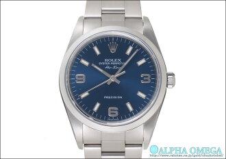 Rolex Air-King Ref.14000M blue 369 dial-2001