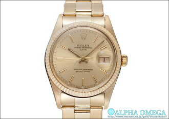oisutapapechurudeito Ref.1万5037香槟黄金拨盘1981年(ROLEX OYSTER PARPEPUAL DATE Ref.1万5037 CHAMPAGNE GOLD DIAL Ca.1981)