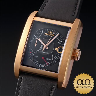 Marvin DN8 tonneau Ref.M106.54.41.64 day power reserve 18kt pink gold plated 150 Limited Edition 2000's