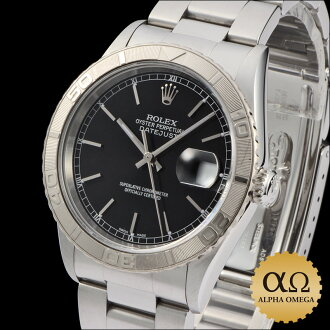 Rolex Datejust SS Ref.16264 ホワイドゴールドベゼル Thunderbird black dial-2003