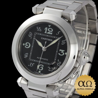 Cartier Pasha C Ref.W31043M7 stainless steel black dial-2003