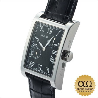 EPOS rectangle power reserve Ref.3327 stainless steel 300 limited 2000's