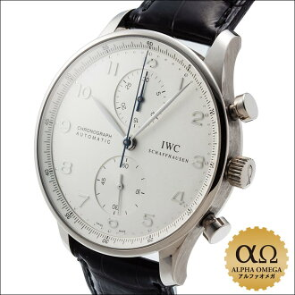 IWC international watch company Portuguese chronograph Ref.3714 WG white gold silver dial