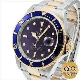 劳力士 submarinadeite Ref.16613 蓝子紫 / 紫色表盘 1994 年,S-