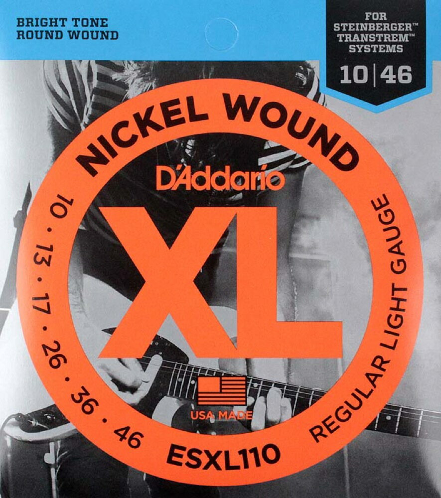 D'Addario ESXL110/ダブルボールエンド エレキギター弦