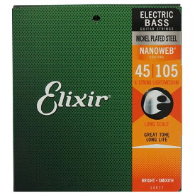 ELIXIR 14077/NANOWEB/BASS/Medium ベース弦