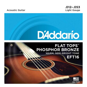 D'Addario EFT16 Flat Top Phosphor Bronze Wound Regular Light吉他弦