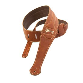 GIBSON ASCL-BRN The Classic Brown Leather with Suede Back ギターストラップ