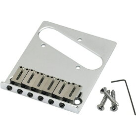 Fender 6-Saddle American Series Telecaster Bridge Assemblies Chrome ギター用ブリッジ