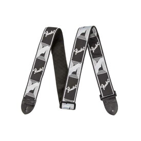 "Fender 2"" Monogrammed Strap Black/Light Grey/Dark Grey ギターストラップ"