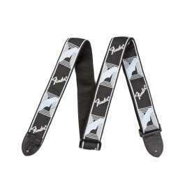 "Fender 2"" Monogrammed Strap Black/Light Grey/Blue ギターストラップ"