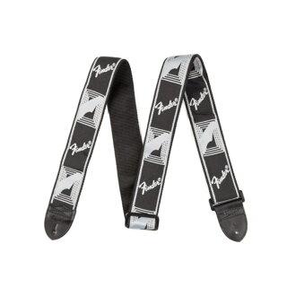 "Fender 2"" Monogrammed Strap Black/Light Grey/Dark Grey 기타 스트랩"