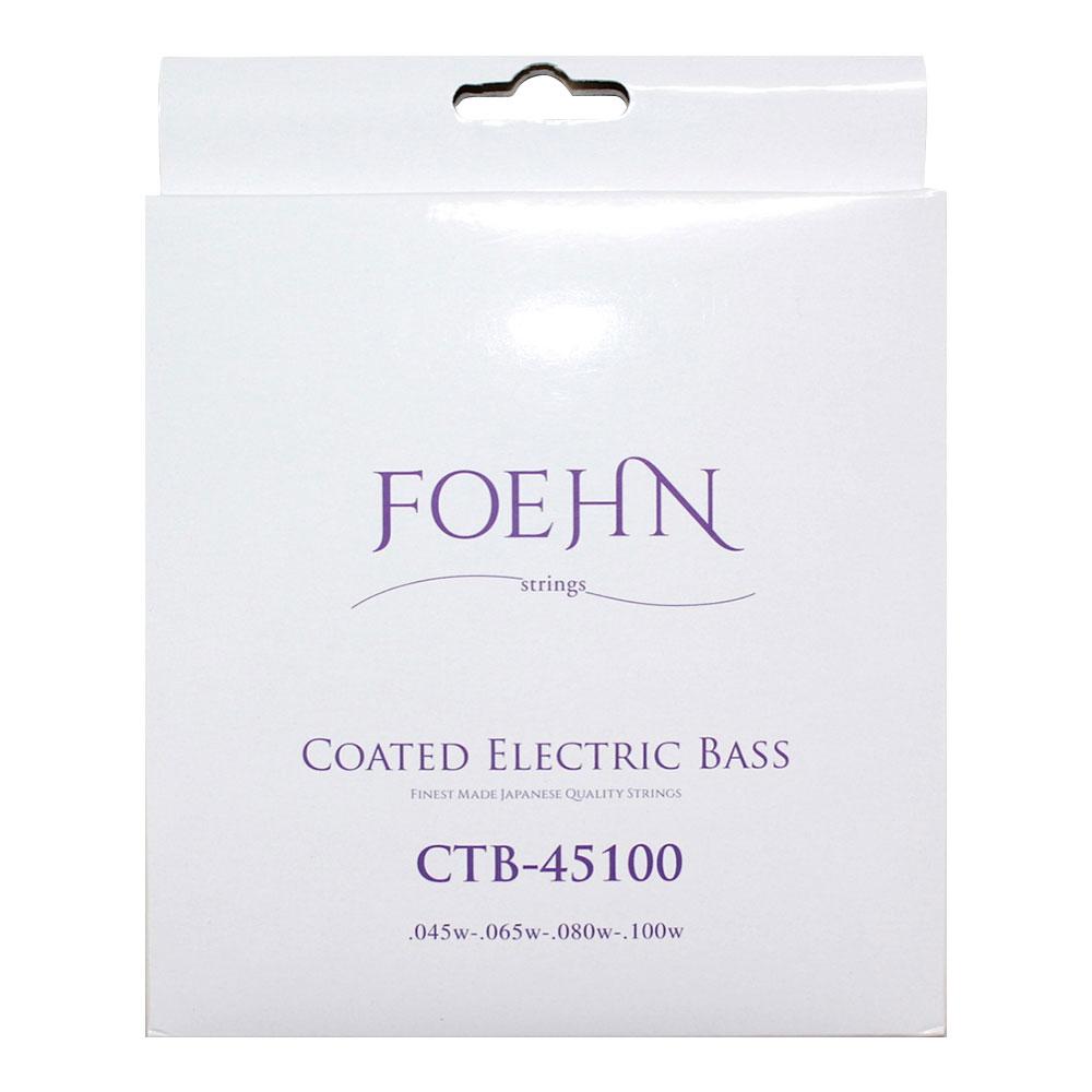 FOEHN CTB-45100 Coated Electric Bass Strings Regular Light コーティングエレキベース弦 45-100