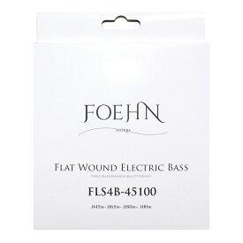 FOEHN FLS4B-45100 Flat Wound Electric Bass Strings Regular Light 45-100 フラットワウンドエレキベース弦