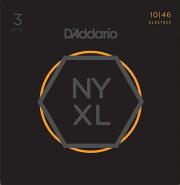 【福岡店店頭品】D'AddarioNYXL1046-3PR.Lightエレキ弦3セットパック