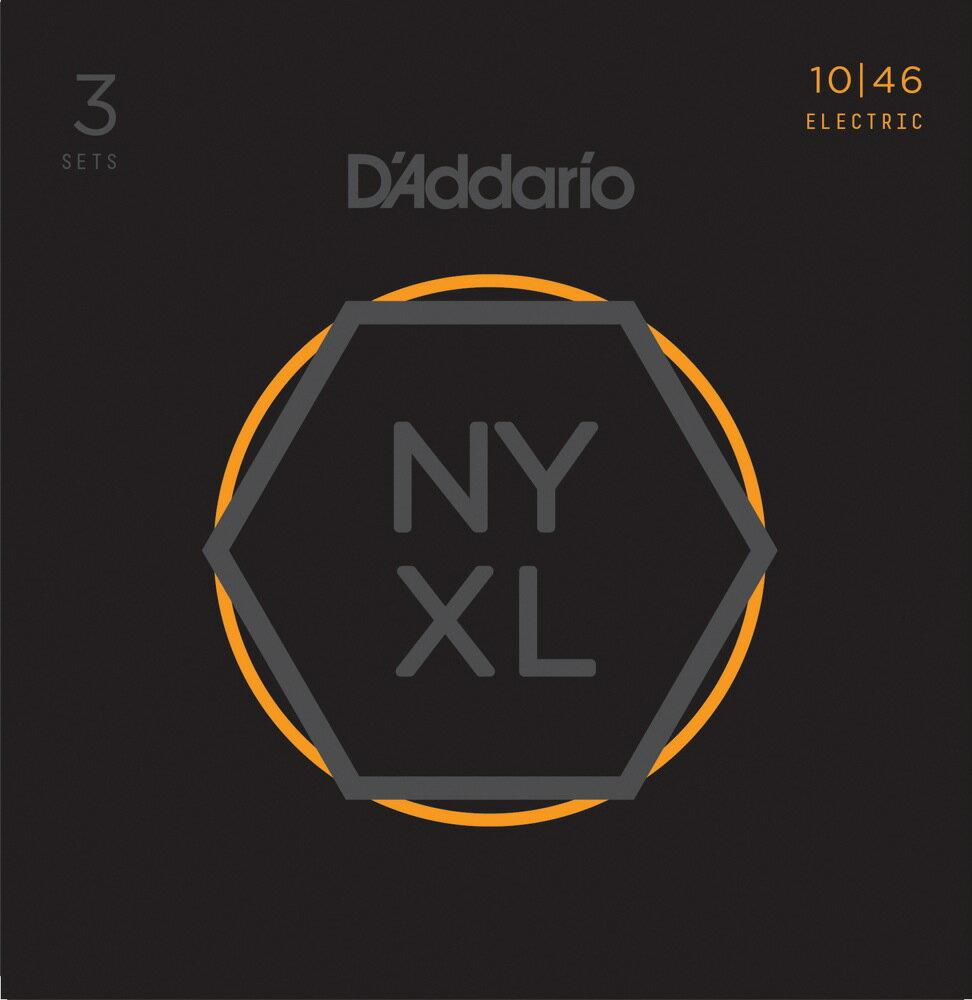 D'Addario NYXL1046-3P Nickel Wound Regular Light エレキギター弦 3セットパック