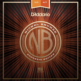 D'Addario NB1047 Nickel Bronze Wound Extra Light アコースティックギター弦