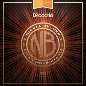 D'Addario NB1256 Nickel Bronze Wound Light Top / Med Bottom アコースティックギター弦