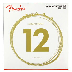 Fender 70L 80/20 Bronze Acoustic Strings 012-052 アコースティックギター弦