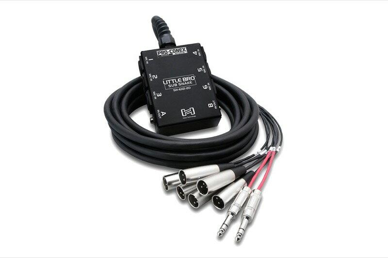 Hosa SH-6X2-50 15m 一体型ライブ用マルチケーブル