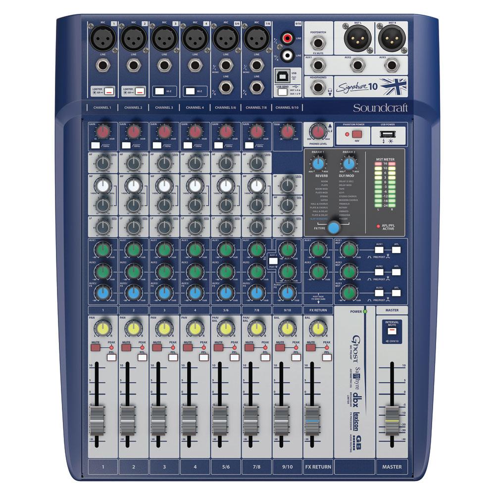 Soundcraft Signature 10 10ch 6マイクインプット アナログミキサー
