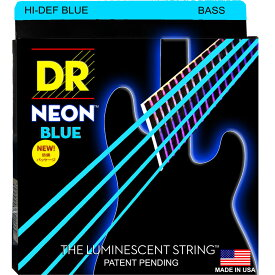 DR NEON HI-DEF BLUE/B MEDIUM NBB-45 エレキベース弦