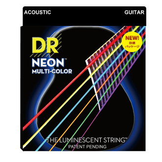 进入2套DR NEON MULTI COLOR NMCA-2/11 MEDIUM LITE 2PACK吉他弦
