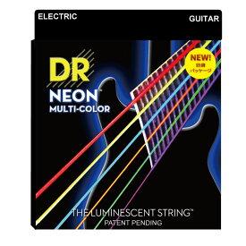 DR NEON MULTI COLOR NMCE-2/10 MEDIUM 2PACK エレキギター弦 2セット入り