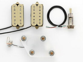 DiMarzio GG2101A3CR Pre-Wired Pickup Set for Les Paul Modern Metal Set Cream プリワイアードピックアップ