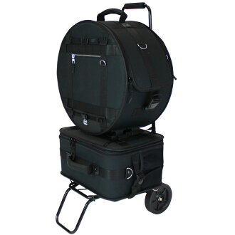 With Pearl PSC-BJSPCA snare & pedal case carry cart