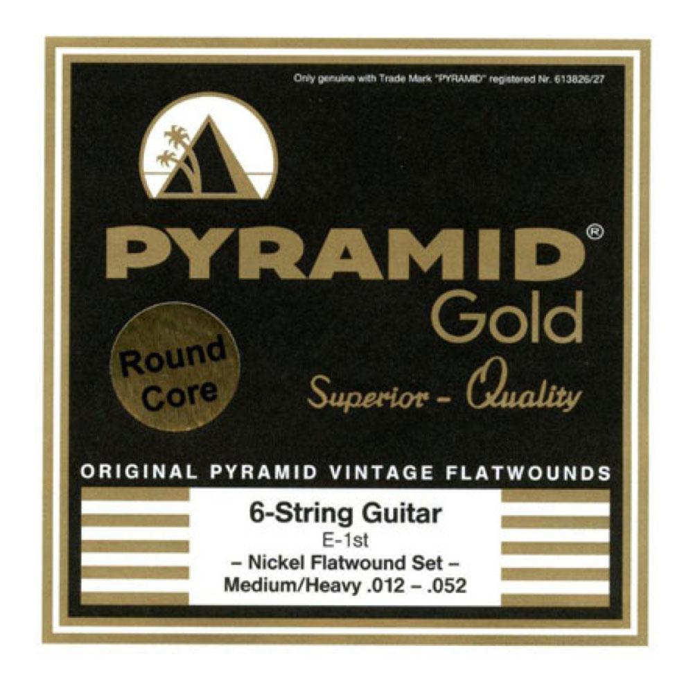 PYRAMID STRINGS EG Gold 012-052 chrome nickel flatwounds on round core フラットワウンド エレキギター弦