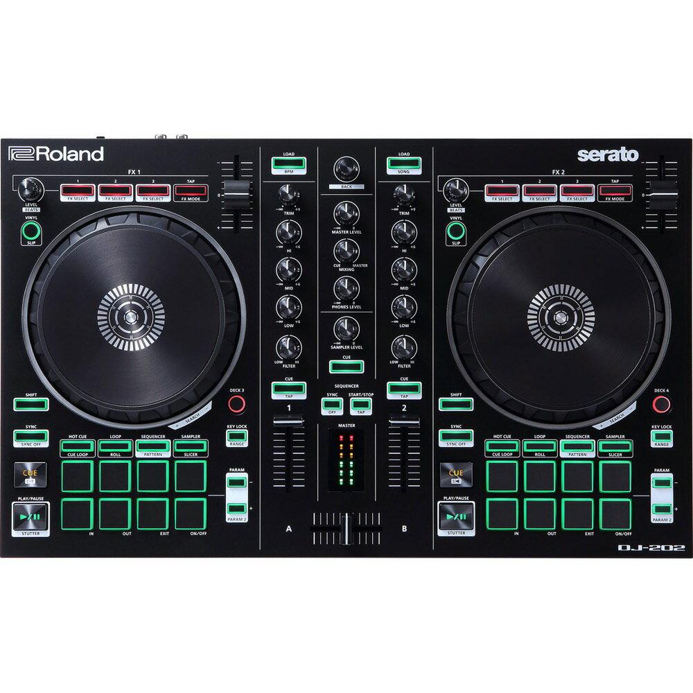 ROLAND AIRA DJ-202 DJコントローラー 【発売記念Serato DJフル版クーポンコード付き】
