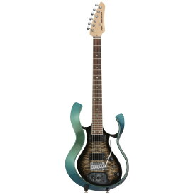 VOX VSS-1-24MGBB-Q Starstream Metallic Green Frame with Black Burst Quilted Maple Top モデリングギター