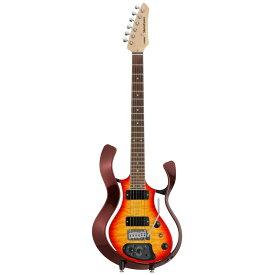 VOX VSS-1-24MWRCB-Q Starstream Metallic Wine Red Frame with Cherry Burst Quilted Maple Top モデリングギター