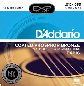 D'Addario EXP16 Coated Phosphor Bronze Light アコースティックギター弦